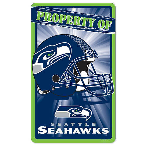 Seattle Seahawks Property Of Signs (7.25x12)