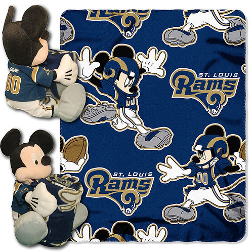 St. Louis Rams Mickey Mouse Throw Combo