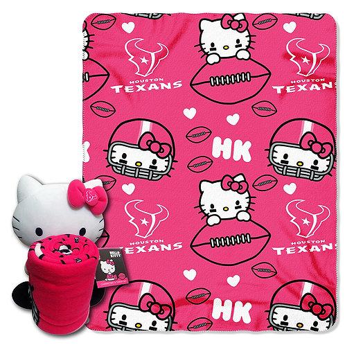 Houston Texans Hello Kitty Throw Combo