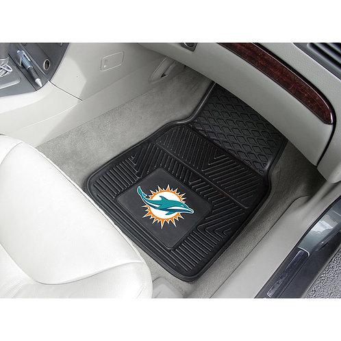Miami Dolphins Heavy Duty 2-Piece Vinyl Car Mat