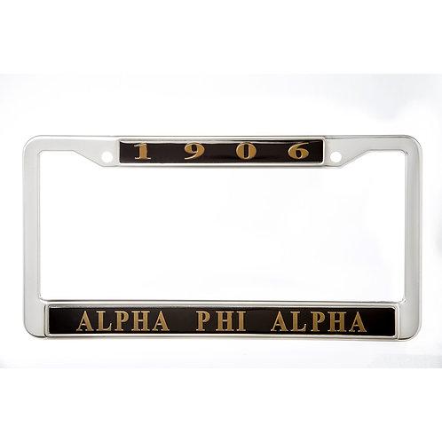 Alpha Phi Alpha Metal License Frame