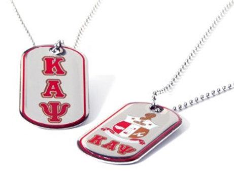 Kappa Alpha Psi Reversible Silver Dog Tag