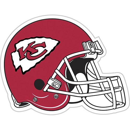 "Kansas City Chiefs 12"" vinyl helmet magnets"