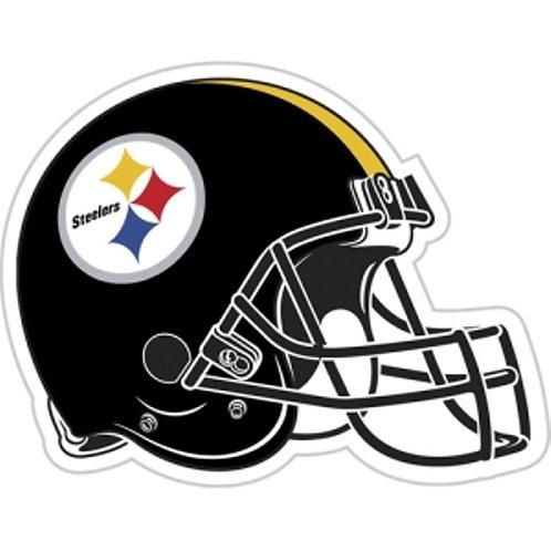 """Pittsburgh Steelers 12"""" vinyl helmet magnet"""