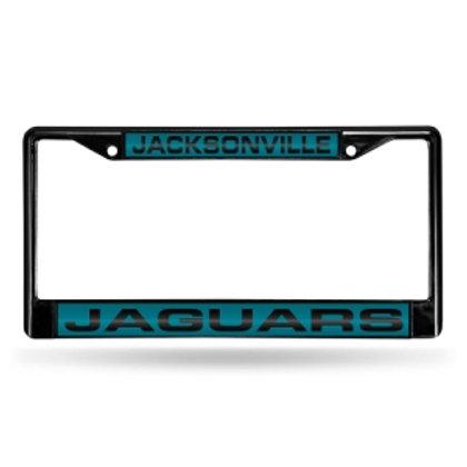Jaguars Laser Cut Black License Plate Frame