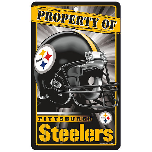 Pittsburgh Steelers Property Of Signs (7.25x12)
