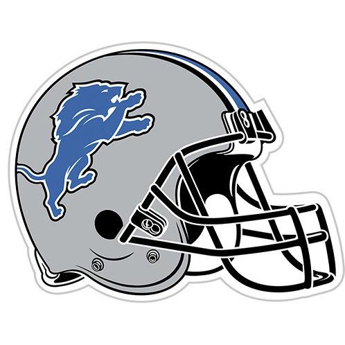 "Detroit Lions 12"" vinyl helmet magnet"