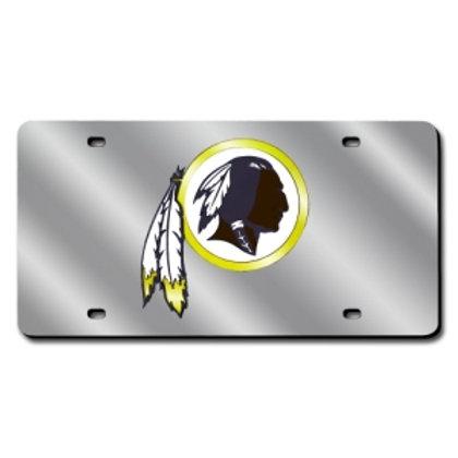 Washington Redskins Silver Laser Cut License Plate