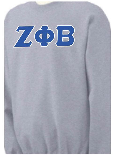 Sports Gray Zeta Fleece Crewneck Sweatshirt