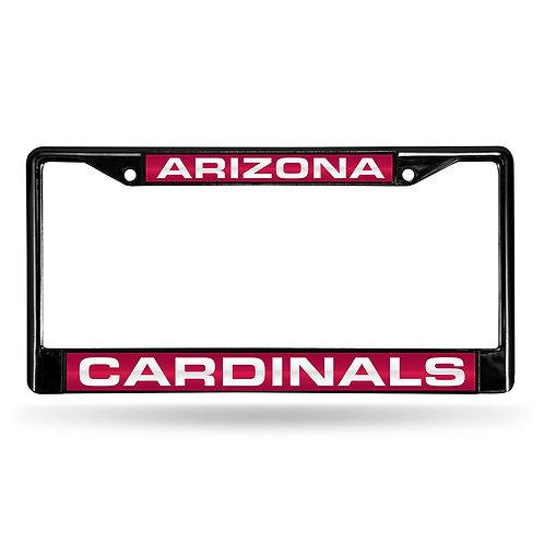 Cardinals Laser Cut Black License Plate Frame