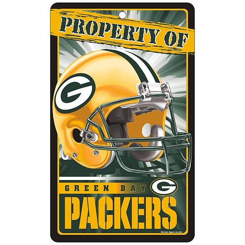 Green Bay Packers Property Of Signs (7.25x12)