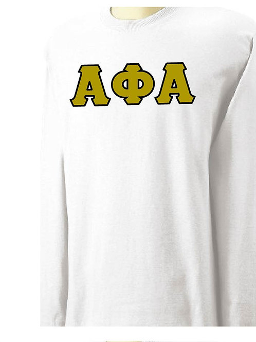 Alpha Phi Alpha White Long Sleeve Tee