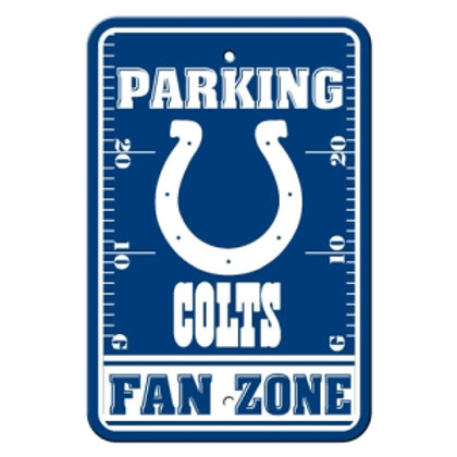 Indianapolis Colts NFL Plastic Parking Sign