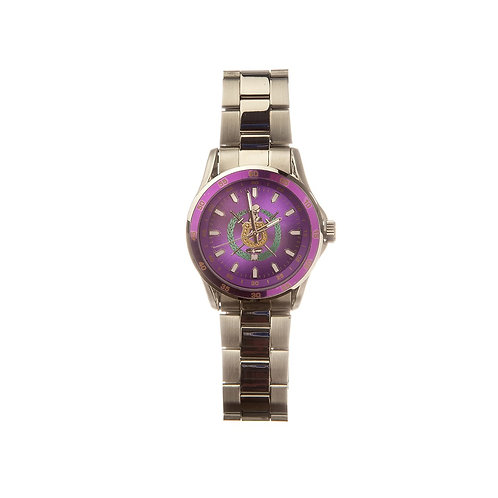 Omega Psi Phi Colored Face Watch w. Shield