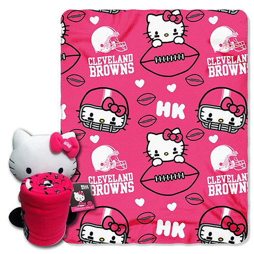 Cleveland Browns Hello Kitty Throw Combo