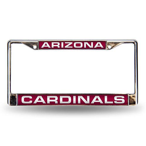 Cardinals Laser Cut Chrome License Plate Frame