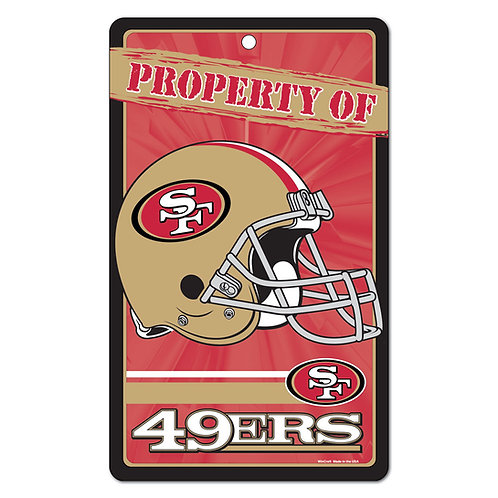 San Francisco 49ers Property Of Signs (7.25x12)
