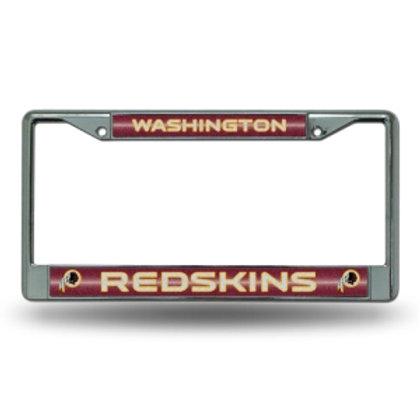 Redskins Bling Glitter License Plate Frame