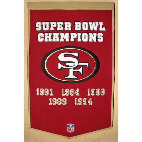 "San Francisco 49ers NFL ""Dynasty"" Banner (24""x36"")"