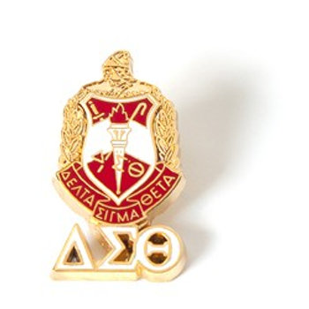 DST 3D Color Shield Pin w/letters