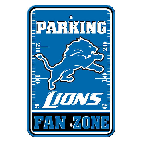 Detroit Lions NFL Plastic Parking Sign