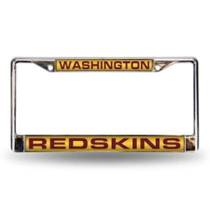 Redskins Laser Cut Chrome License Plate Frame