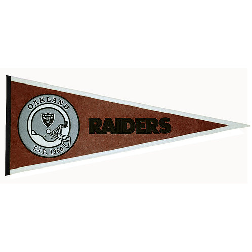 Oakland Raiders Pigskin Traditions Pennant (13x32)