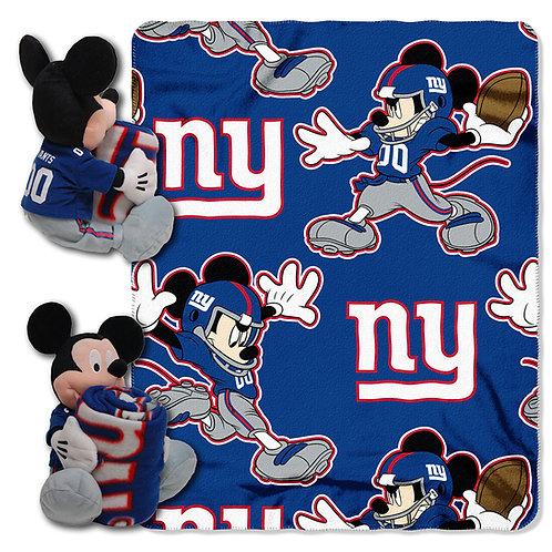 New York Giants Mickey Mouse Throw Combo