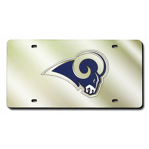 St. Louis Rams Laser Cut License Plate Tag