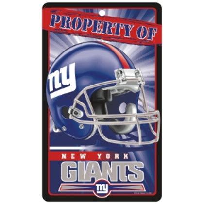 New York Giants Property Of Signs (7.25x12)
