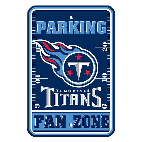 Tennessee Titans NFL Plastic Parking Sign