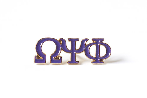 Omega Psi Phi 3 Letter Color Pin