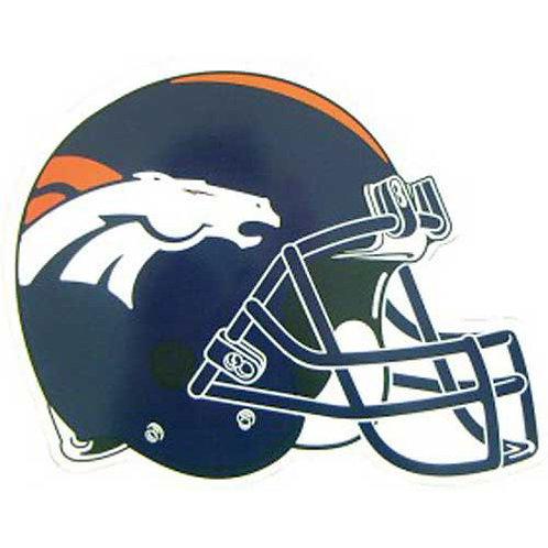 "Denver Broncos 12"" vinyl helmet magnet"