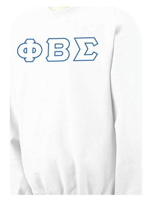 White PBS Fleece Crewneck Sweatshirt