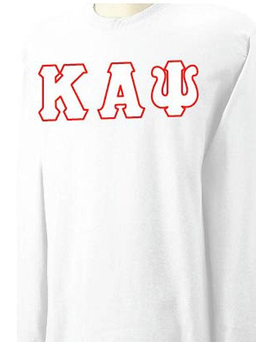 White Kappa Long Sleeve Tee