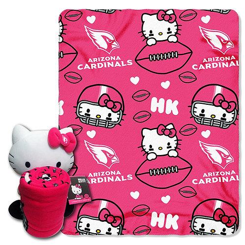 Arizona Cardinals Hello Kitty Throw Combo