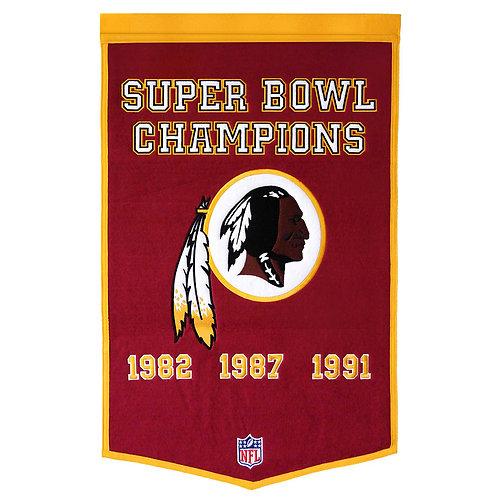 Washington Redskins NFL Dynasty Banner (24x36)