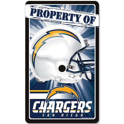 San Diego Chargers Property Of Signs (7.25x12)