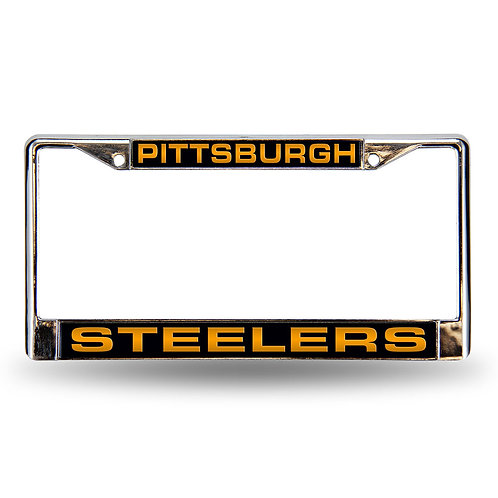 Steelers Laser Cut Chrome License Plate Frame