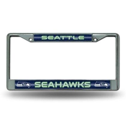 Seattle Seahawks Bling Glitter License Plate Frame