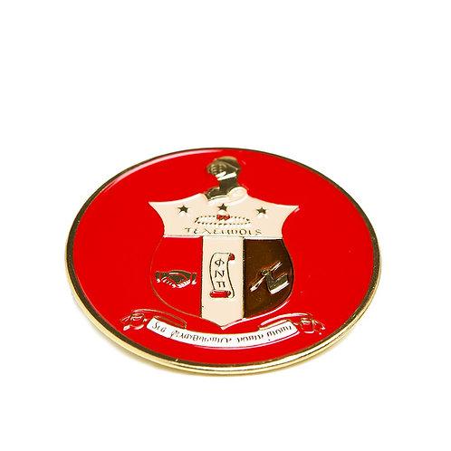 Kappa Alpha Psi Round Car Badge