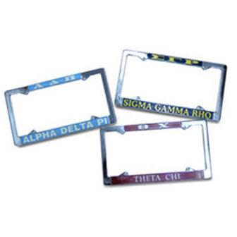 Omega Psi Phi Chrome License Plate Frame