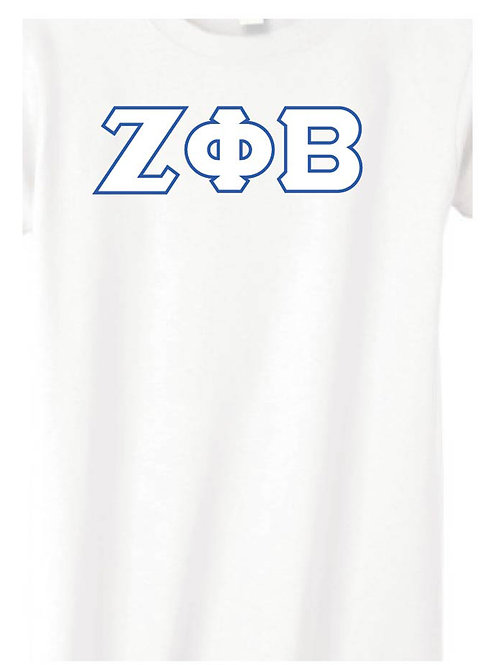 White Zeta Short Sleeve Tee