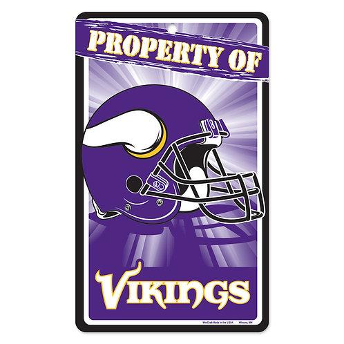 Minnesota Vikings Property Of Signs (7.25x12)