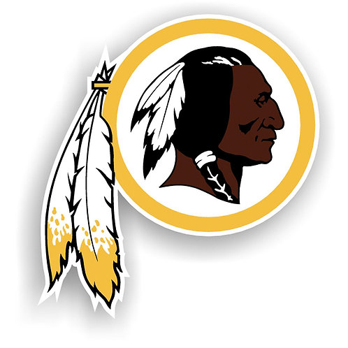 "Washington Redskins 12"" vinyl logo magnet"