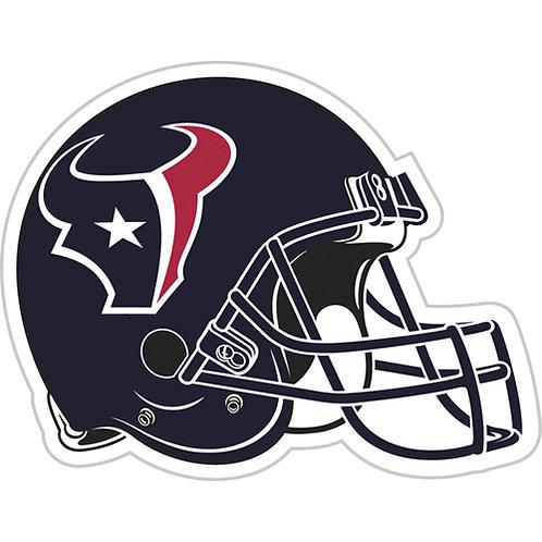 """Houston Texans 12"""" vinyl helmet magnet"""
