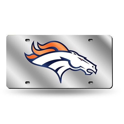 Denver Broncos Laser Cut License Plate Tag