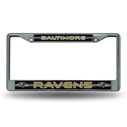 Baltimore Ravens Bling Glitter License Plate Frame
