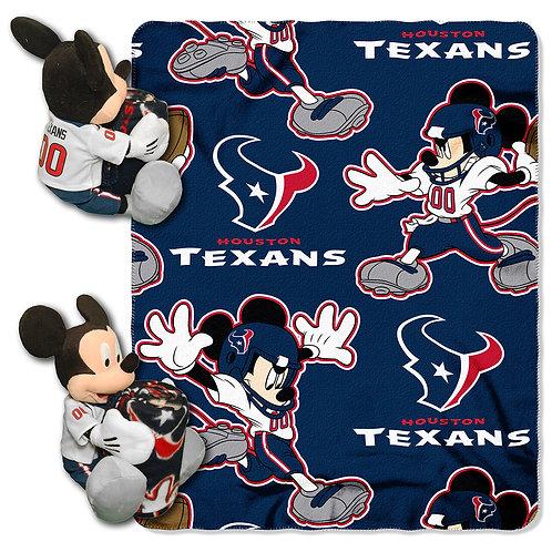 Houston Texans Mickey Mouse Throw Combo