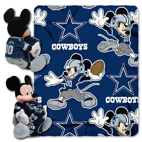 Dallas Cowboys Mickey Mouse Throw Combo